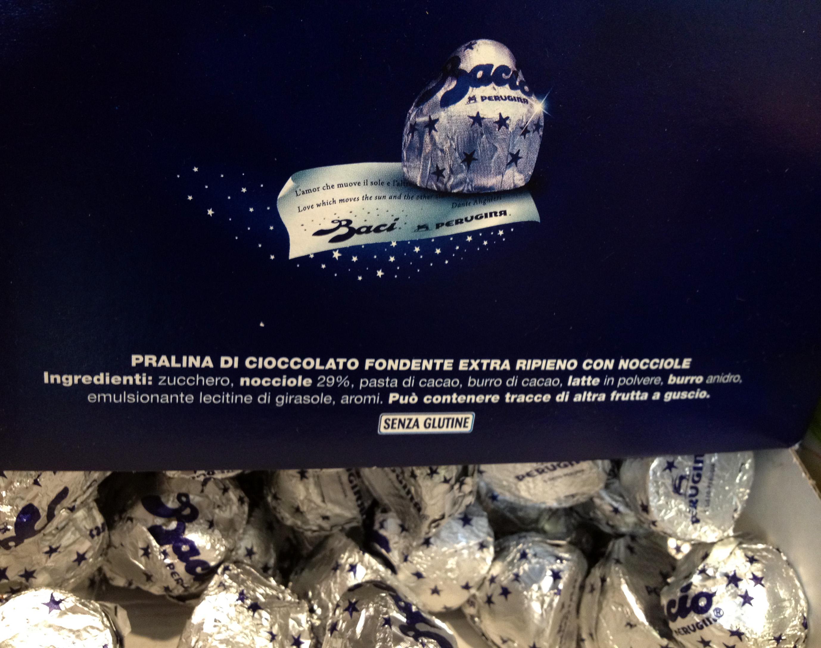 Baci Perugina gluten free chocolate