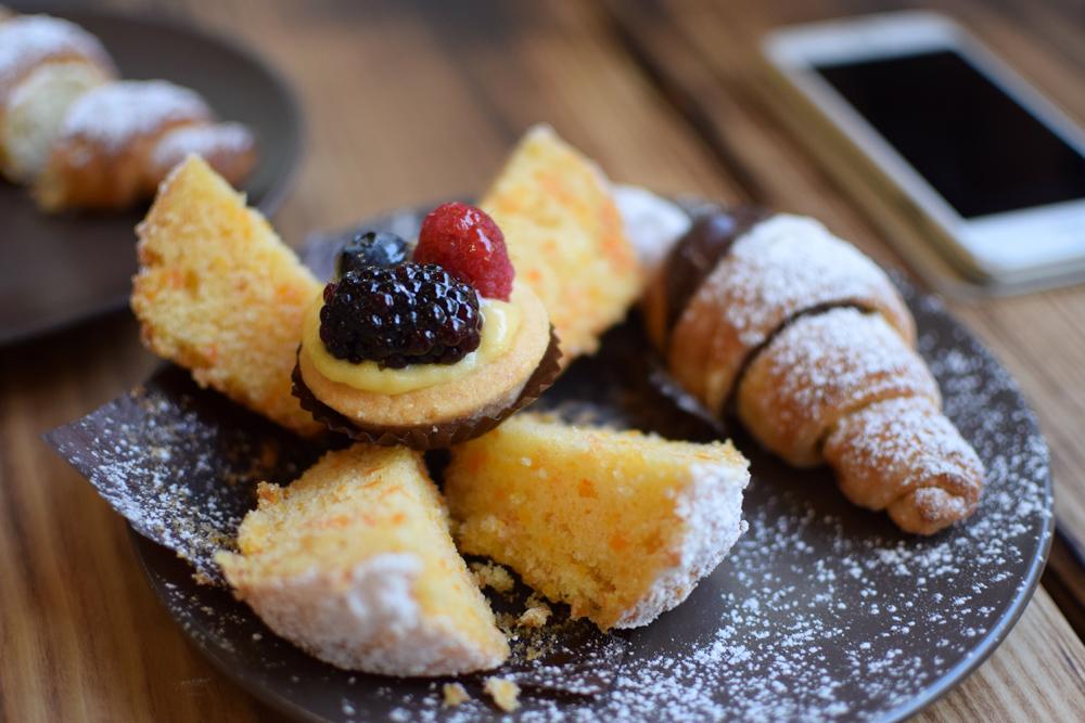 Italian gluten free breakfast at glu free in milan