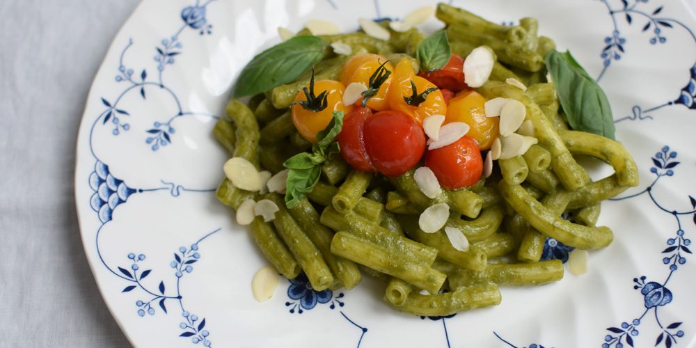 delicious glutenfree pasta with pesto