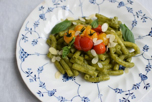 delicious glutenfree pasta with pesto