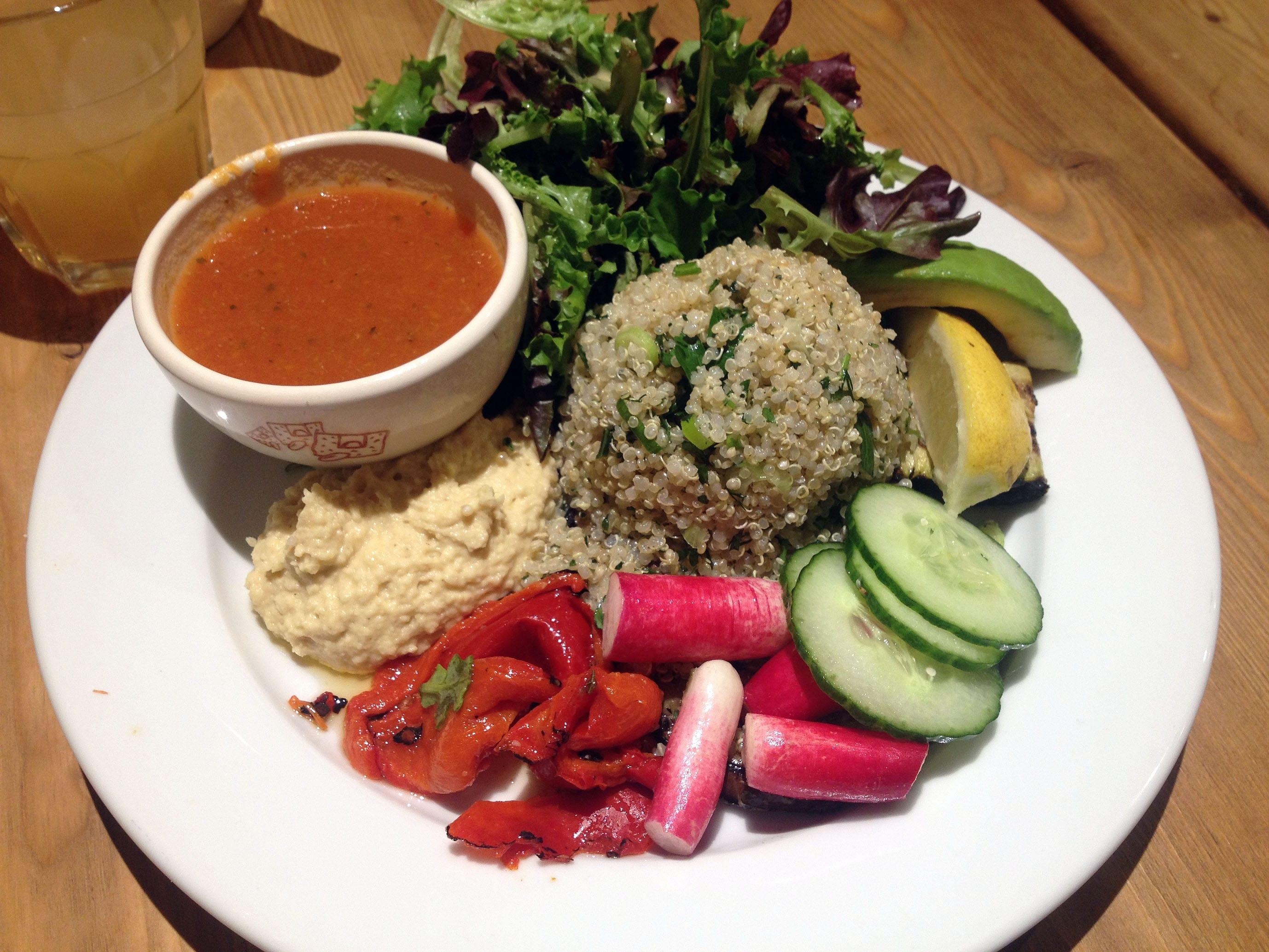 gluten free organic vegetarian brunch: Le Pain Quotidien