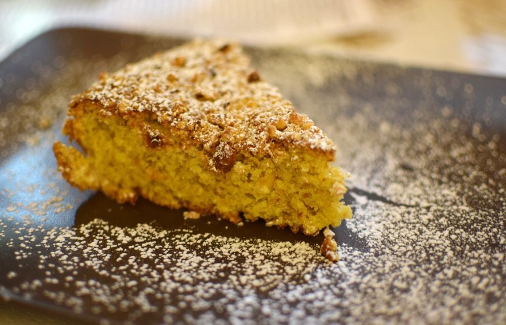 delicious gluten free hazelnut cake at Locanda del Pentegallo