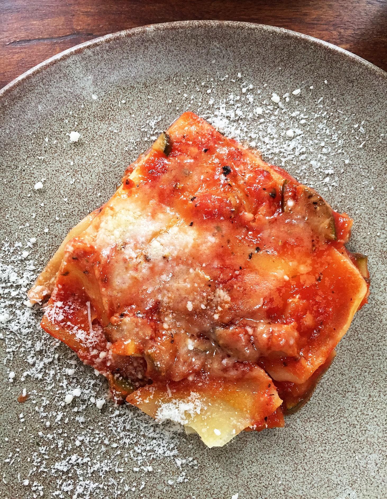 Delicious gluten free lasagna: Pastificio La Rosa