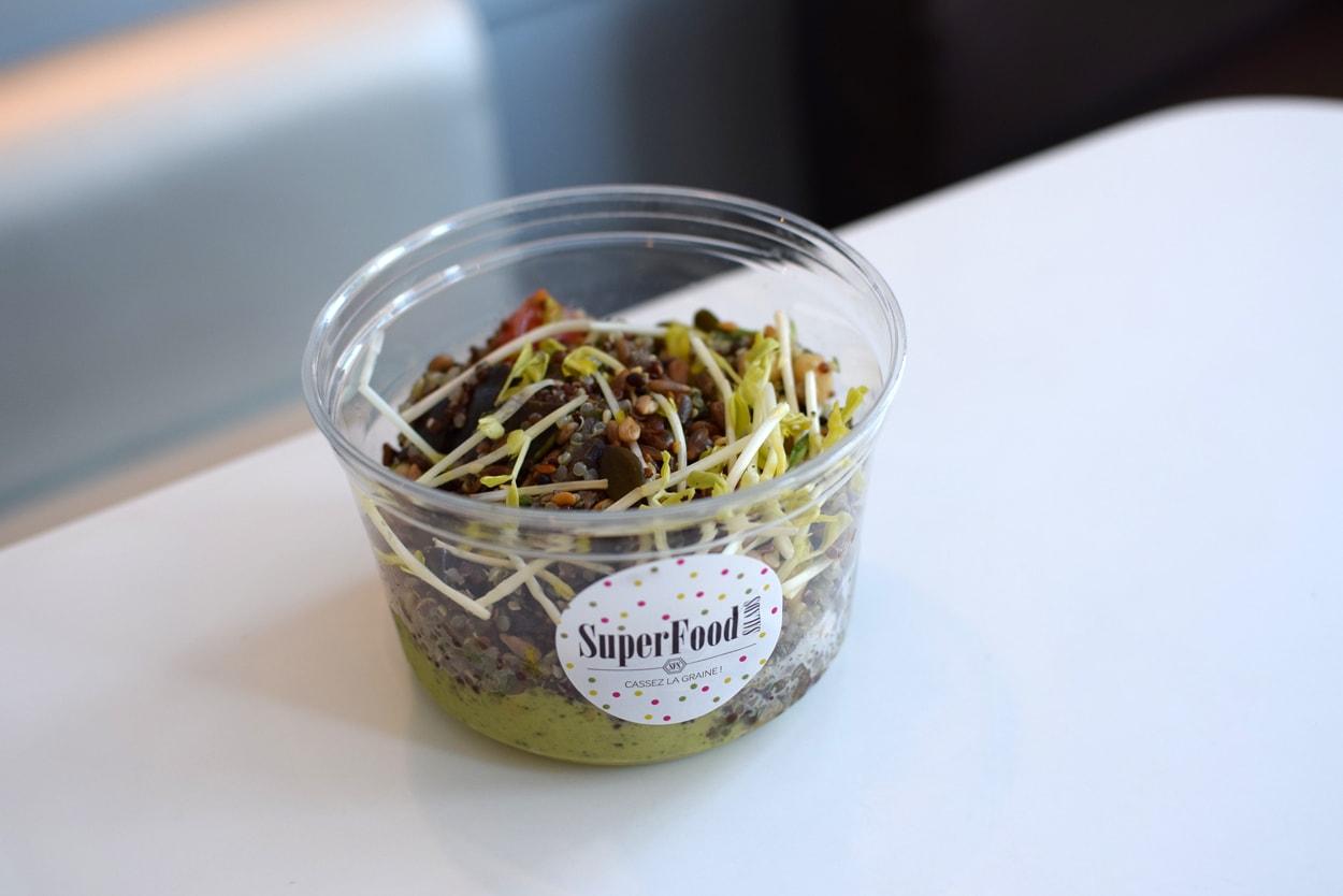 gluten free healthy salad at cojean