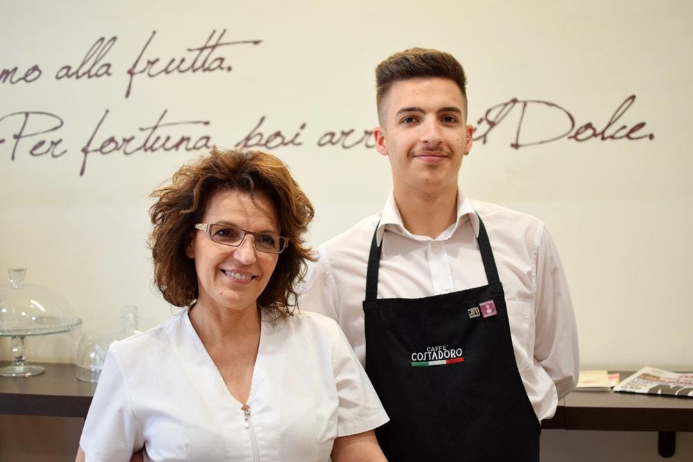 Domenica e Andrea from Café Pâtisserie gluten free coffee shop in Turin
