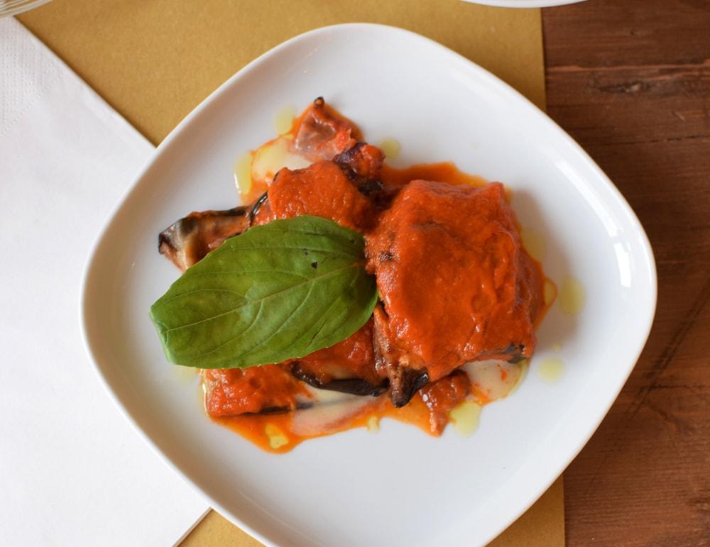 gluten free parmigiana di melenzane at puglia bakery milan