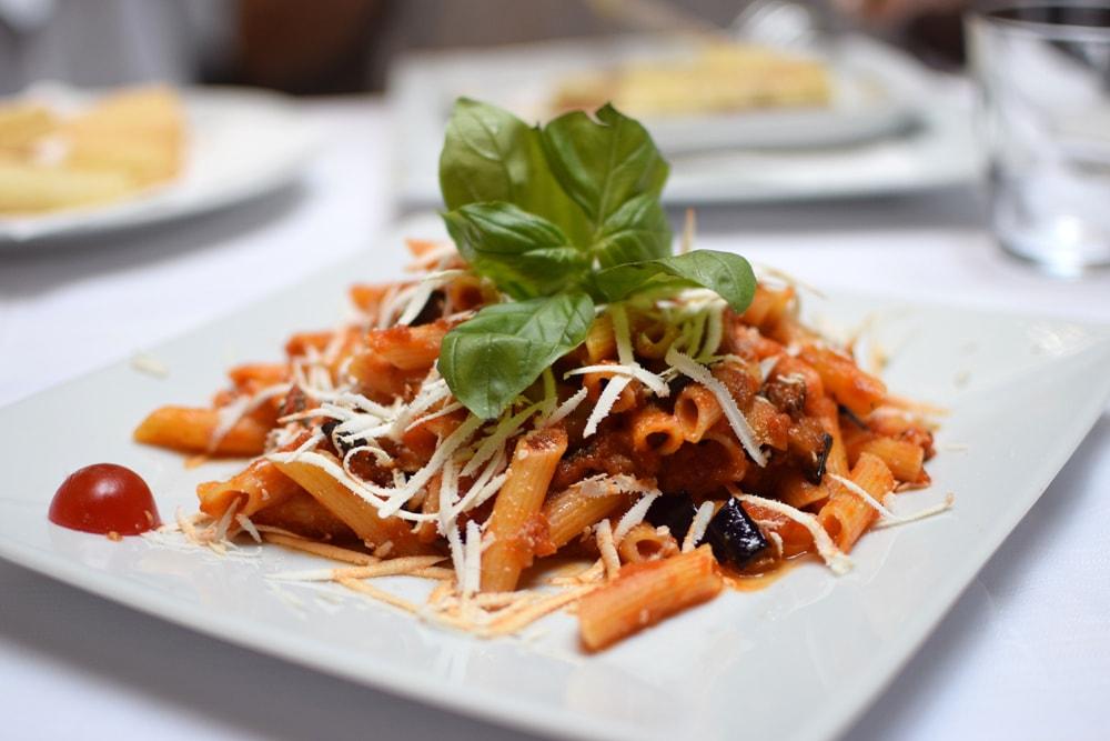 delicious gluten free pasta at be bop milan