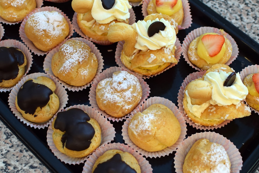 yummy gluten free choux at navotti in milan