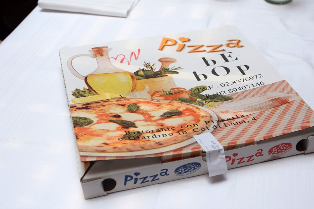 gluten free pizza at be bop milan