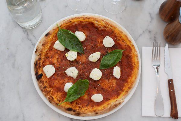Gluten free pizza at Gemini restaurant