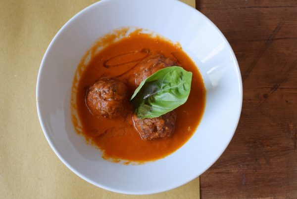 delicious gluten free meatballs at Puglia Bakery Milan