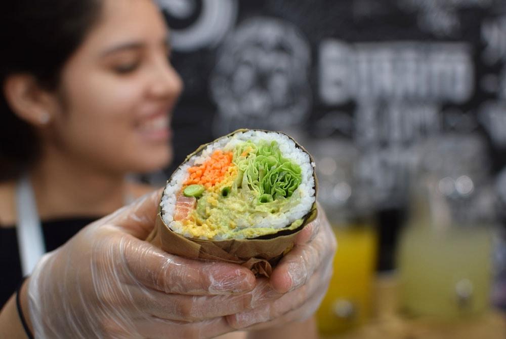 Gluten free sushi burrito at Fuumi