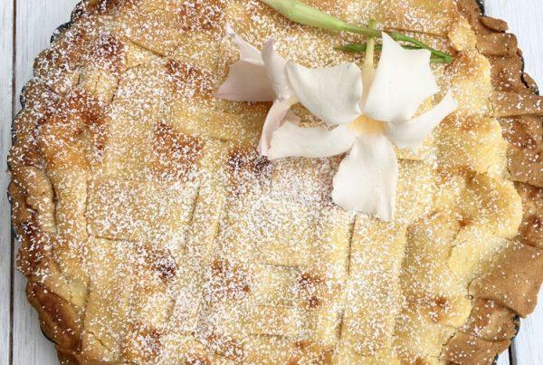 here it comes the recipe to make a delicious gluten free crostata with almonds