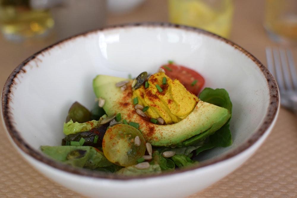 gluten free avocado at Le Potager de Charlotte