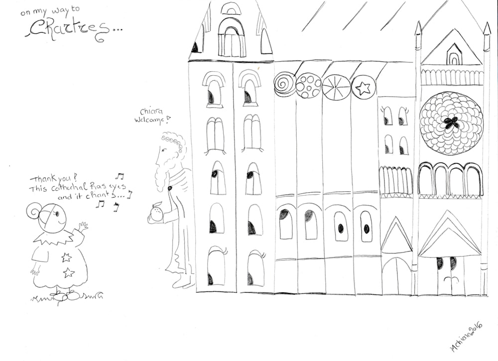 chiara's drawing of chartres