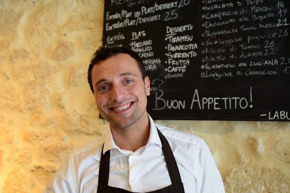Massimiliano founder La Buca restaurant in paris