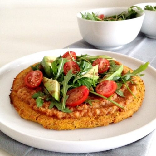 delicious gluten free vegetarian pizza