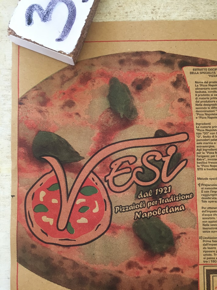 here it is vesi and its gluten free pizza in naples