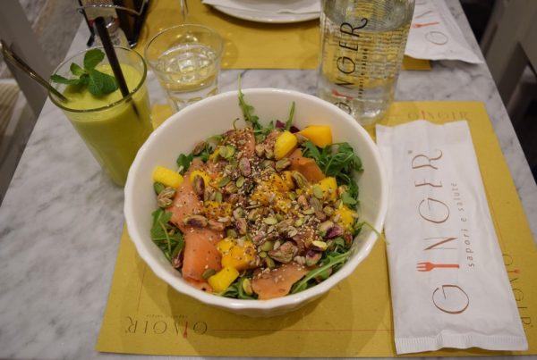 ginger café gluten free salad in rome