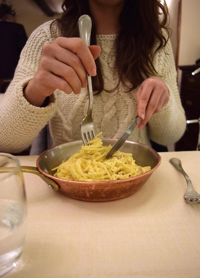 taverna barberini gluten free spaghetti carbonara