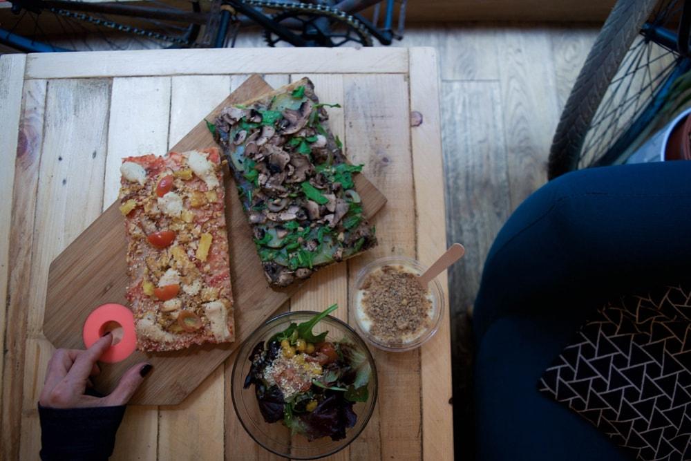 hank vegan gluten free pizza in paris