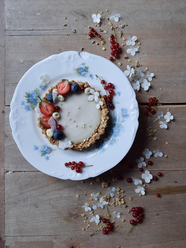gluten free vegan granola tarts