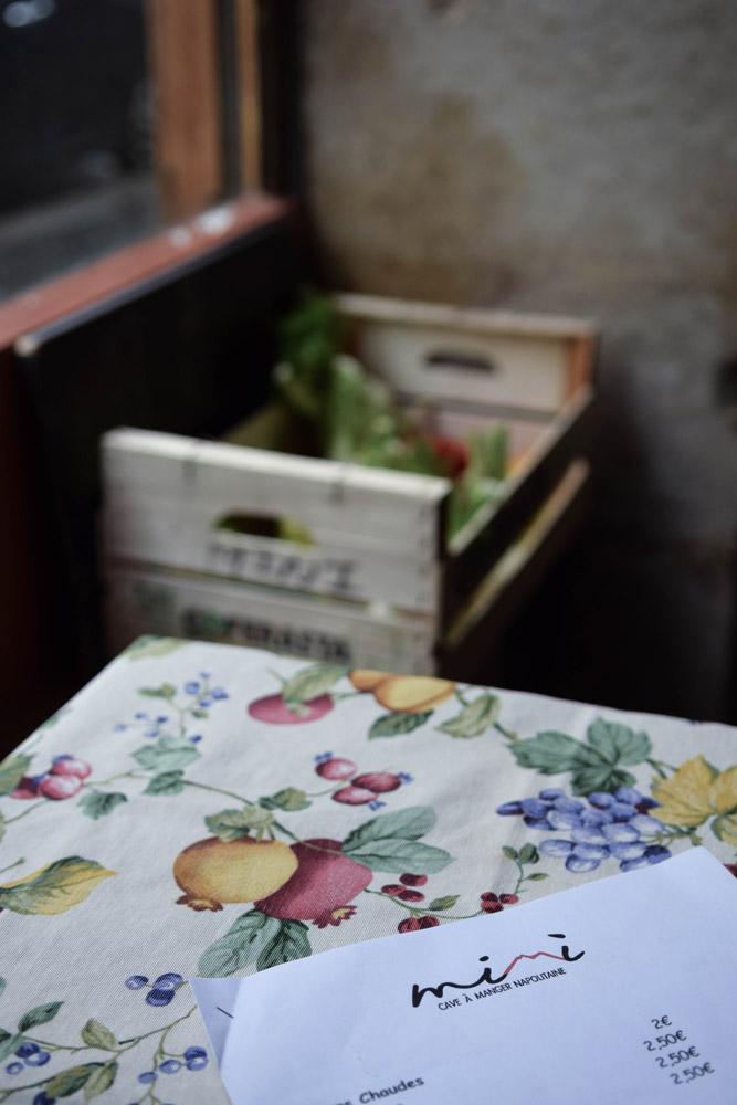 mimi cave a manger Italian restaurant in Paris