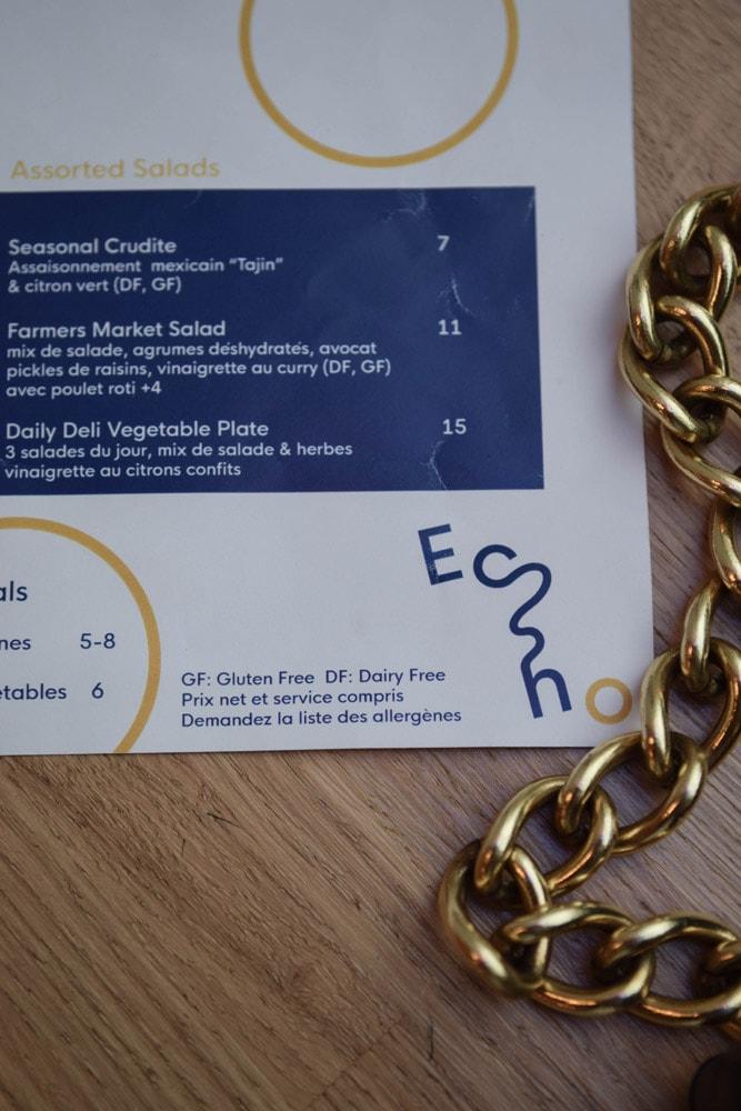 echo deli menu with gluten free options