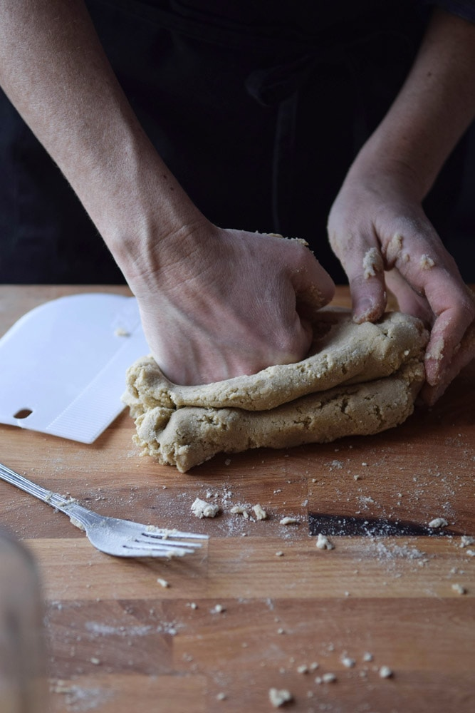 gluten free tagliatelle in the making