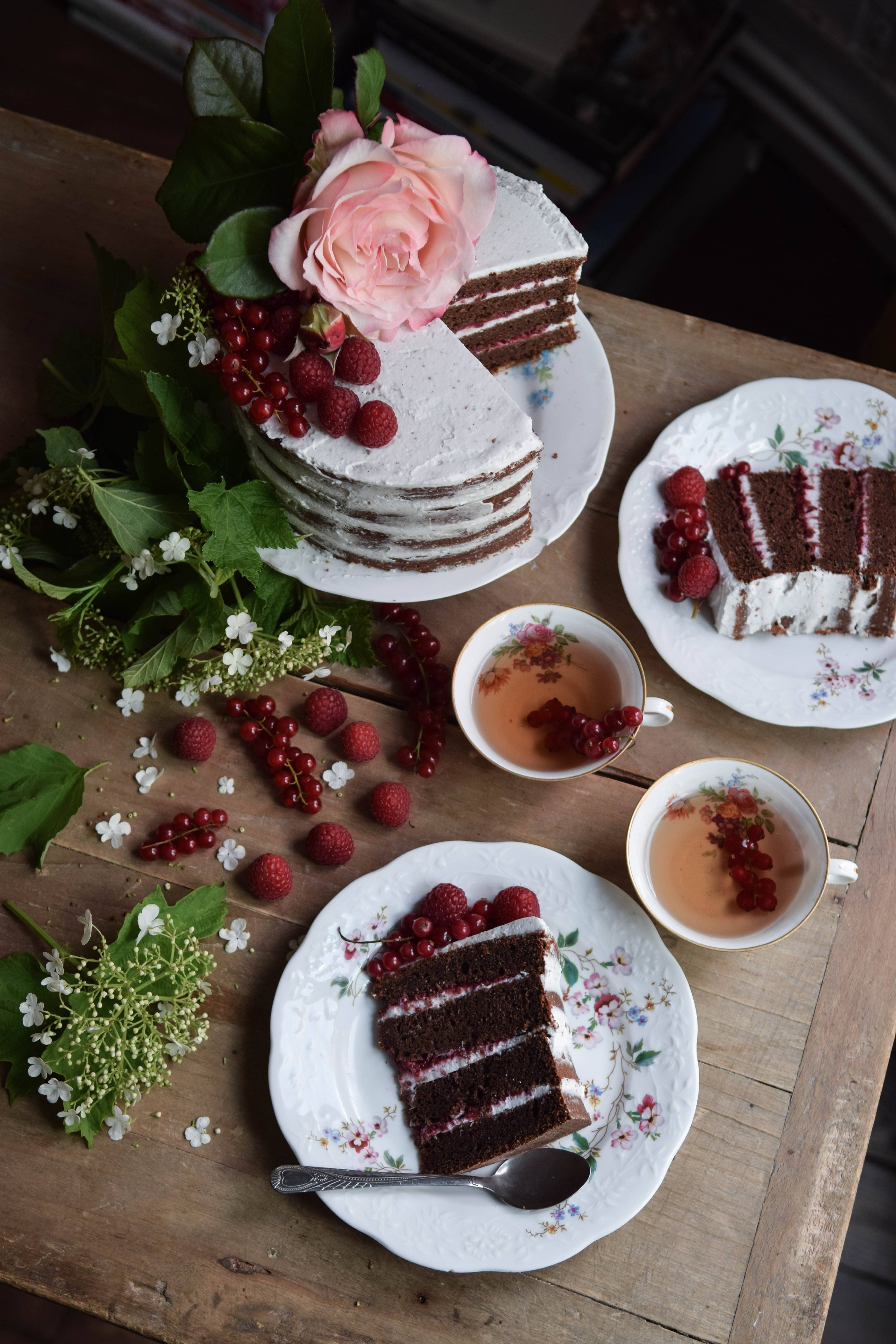 gluten free and vegan chocolate naked cake so delicious