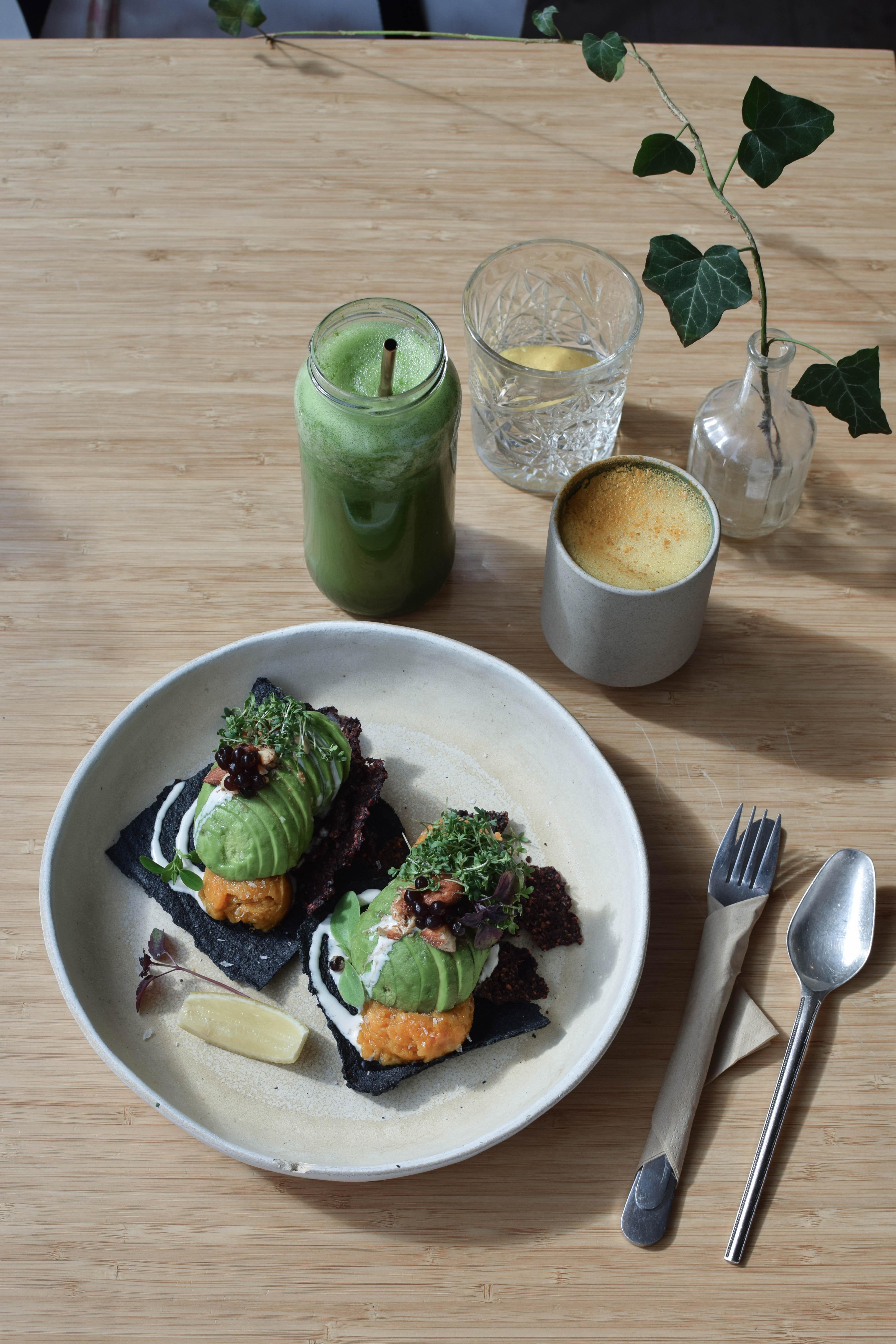 plant power food avocado toast gluten free vegan