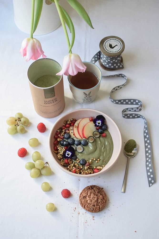 your super food green bowl vegan gluten free