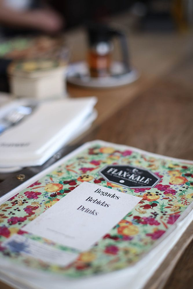 flax and kale restaurant barcelona menu