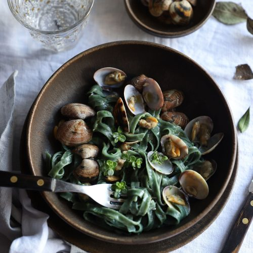 superfood pasta with clams recipe