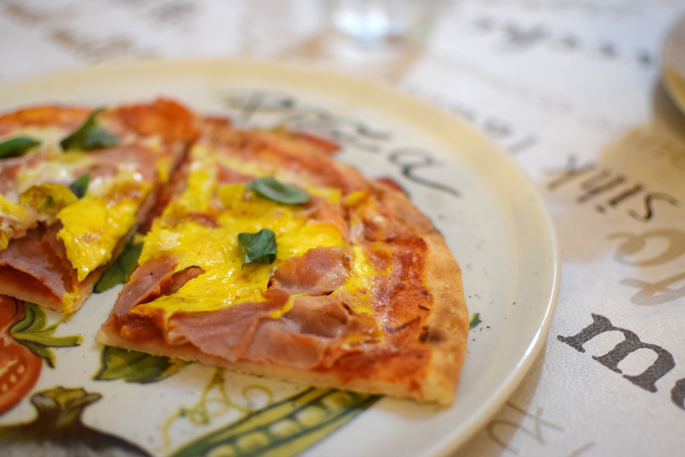 Une pizza sans lactose et sans gluten chez La Locanda del Pentegallo