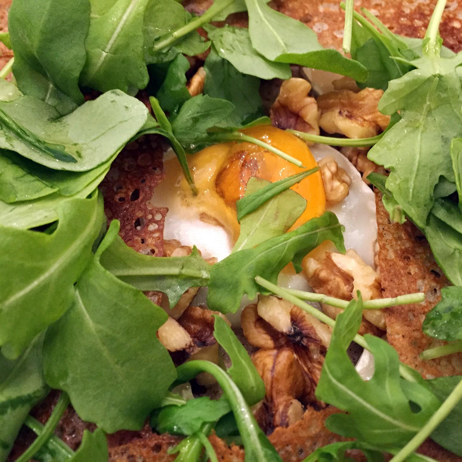 Voici des crêpes sans gluten avec le blé noir, soit le sarrasin, chez Krugen à Paris