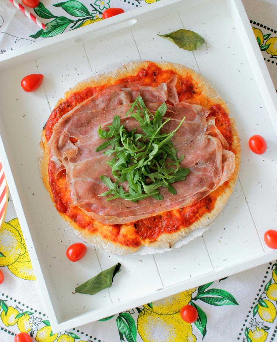Une pizza sans gluten de blog de Fritchy