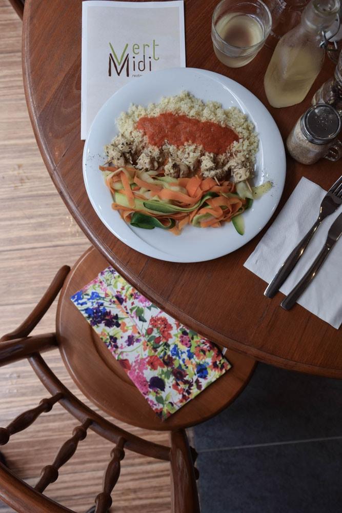 vert midi déjeuner sans gluten