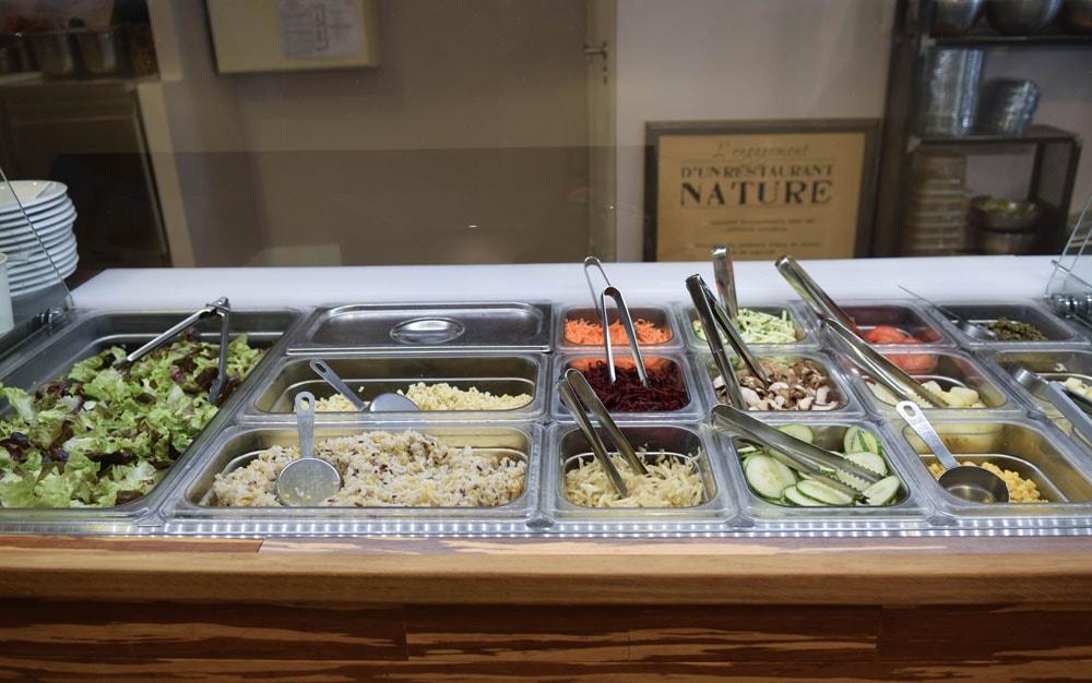 vert midi salade sans gluten