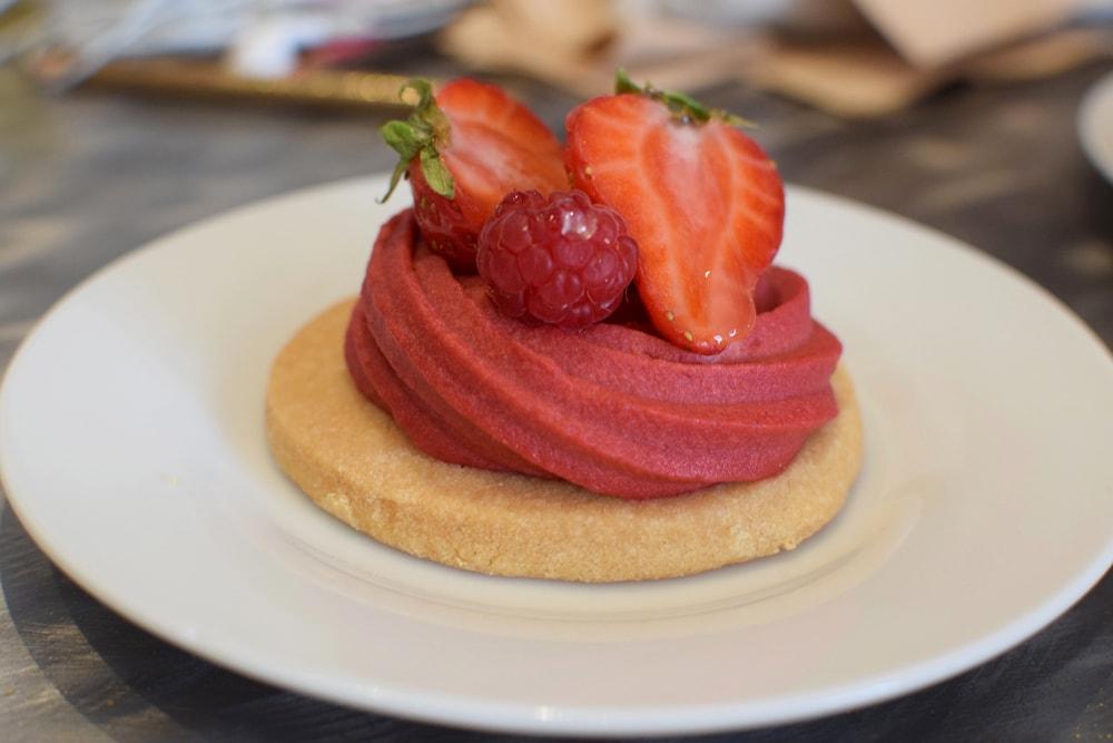 pâtisserie sans gluten et vegan à la fraise