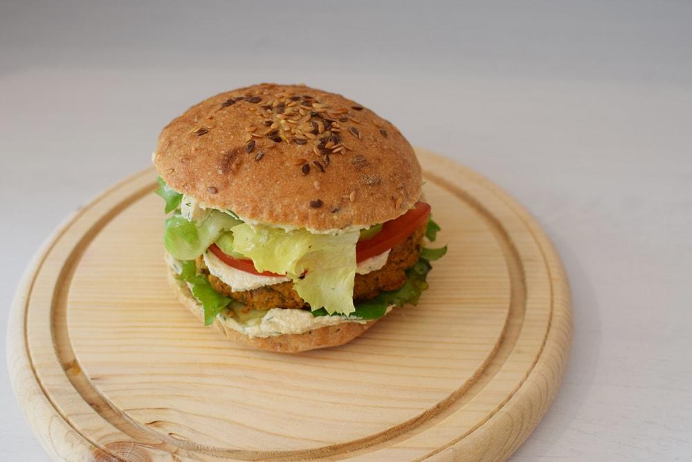 yummy vegan burger sans gluten