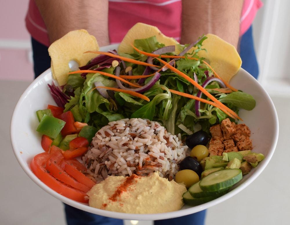 très bon veggie bowl sans gluten