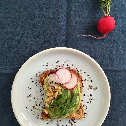 avocado toast avec pain sans gluten schar