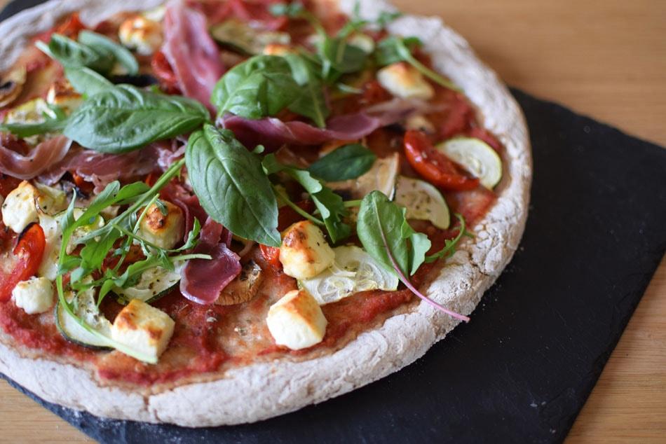 pizza sans gluten avec mix glutino faite à paris