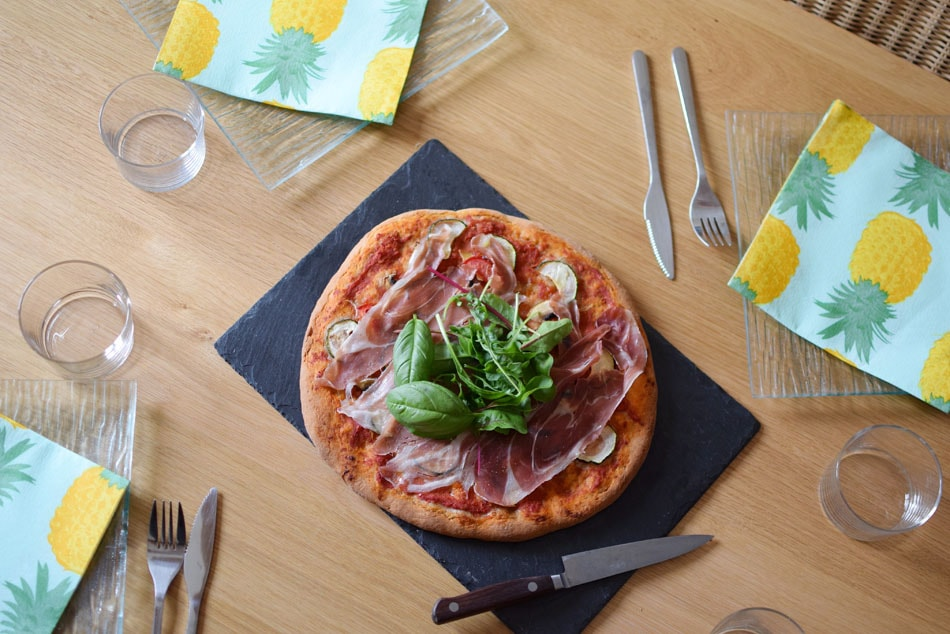 pizza sans gluten avec le mix glutino