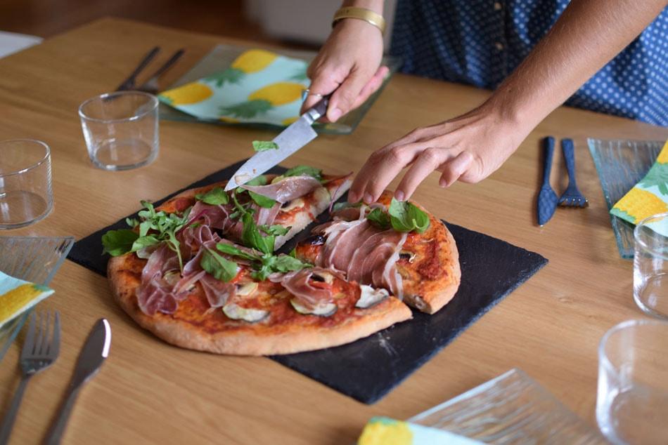 délicieuse pizza sans gluten avec le mix glutino