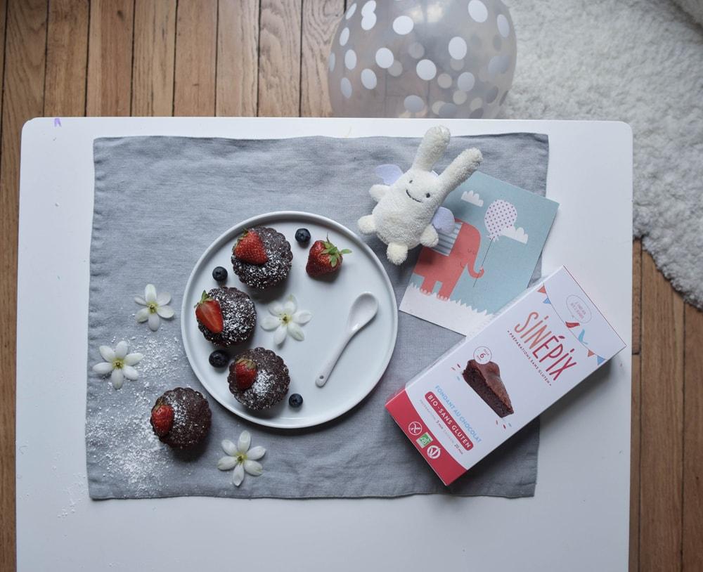 sinepix fondant au chocolat sans gluten