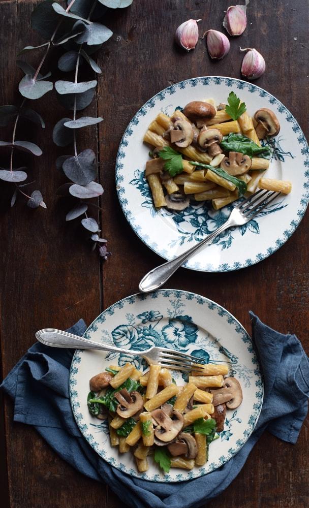 Funky veggie: recette de pâtes aux champignons sans gluten