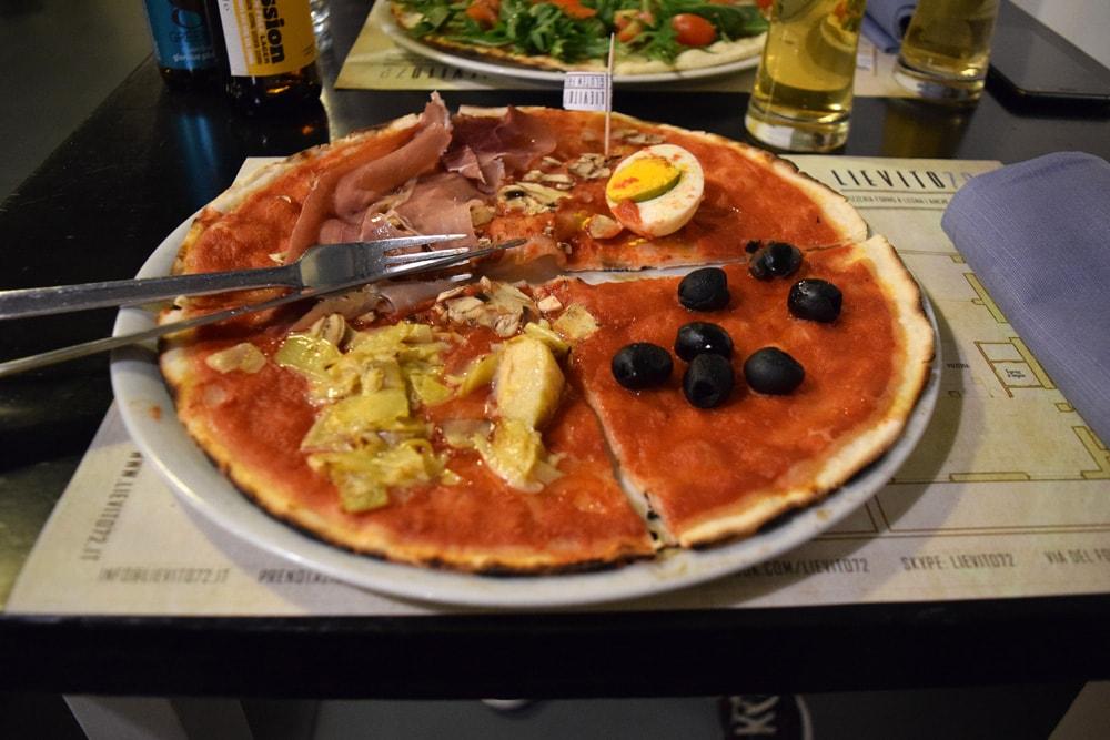 lievito 72 pizza sans gluten capricciosa