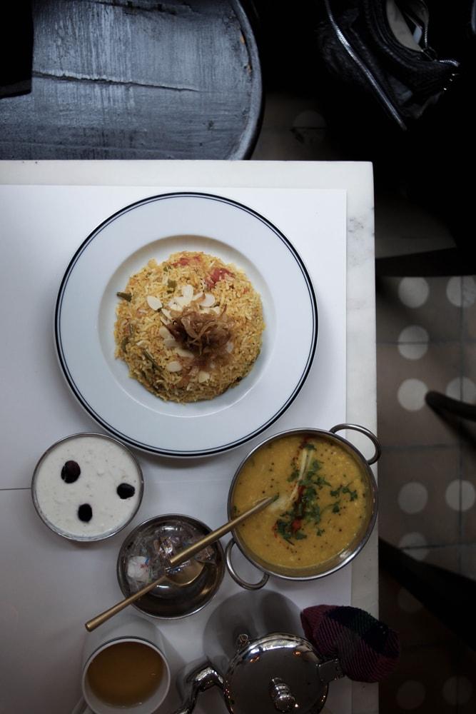 mg road paris déjeuner indien